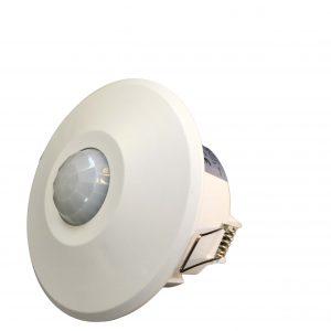 سنسور حرکتی INFRARED سقفی توکار حساسیت 3 تا 2000 لوکس