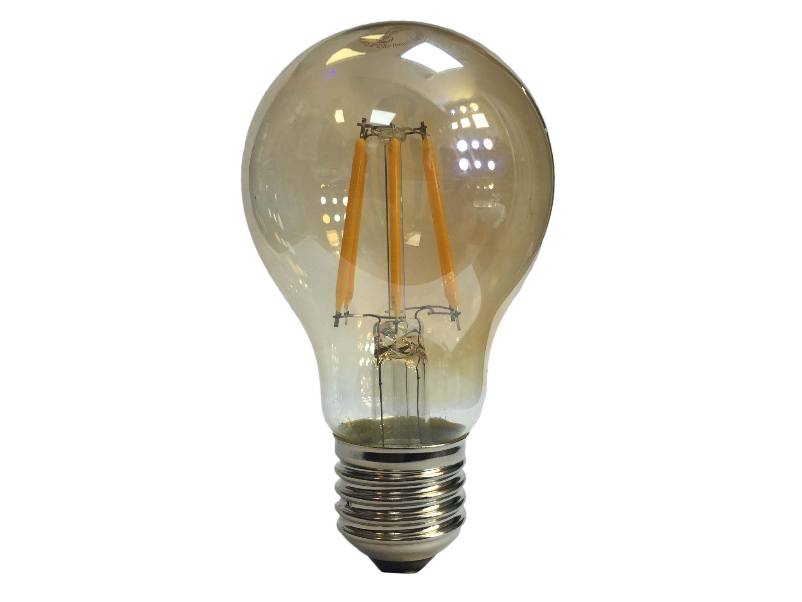 لامپ لوستری فیلامانی 6 وات E27 در رنگهای آفتابی و مهتابی