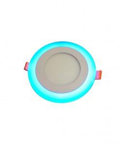 چراغ SMD - DOWN LIGHT گرد سه حالته دور آبی در رنگهای آفتابی و مهتابی