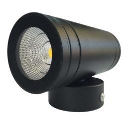 چراغ پروژکتوری نما ثابت IP65 / COB / OUT DOOR بدنه مشکی در رنگ های آفتابی و مهتابی