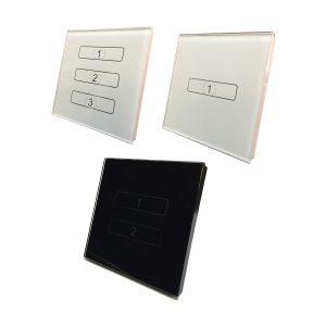 کلید های لمسی 4M در رنگ های سفید و مشکی همراه با قوطی مخصوص