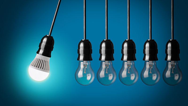زاویه تابش در لامپ LED
